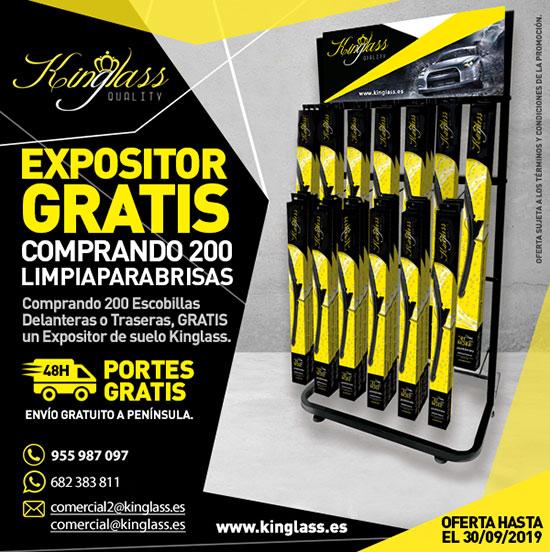 ¡Llévate un Expositor de suelo GRATIS comprando 200 escobillas delanteras o traseras!